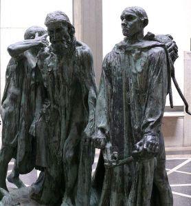 Les Bourgeois de Calais de Rodin - Image wikipedia