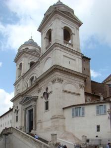 La-Trinité-des-Monts à Rome, avec les armes du cardinal Barbarin